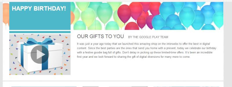 Google Play compie un anno! Es11t110