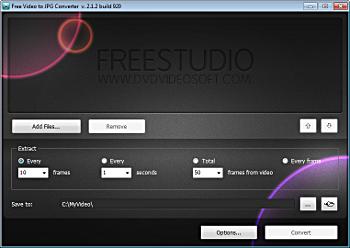 Estrarre immagini da un video - Free Video to JPG Converter Videot10