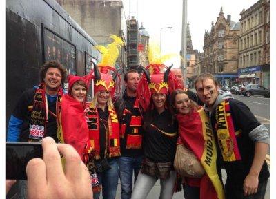Le pavillon de notre marine était à Glasgow hier :-) 5433110