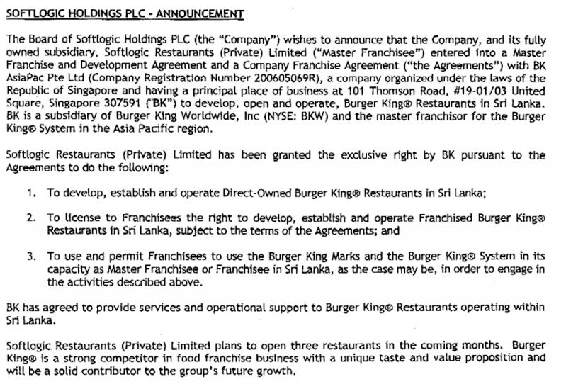 Burger Kings Restaurants in Sri Lanka Bk10
