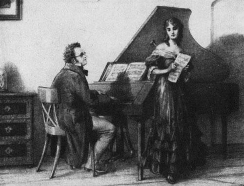 اشهر اغانى شوبرت (جريتشن على عجلة المغزلة) Gretchen am Spinnrade Op.2  حصريا على اساطين النغم  Schube16