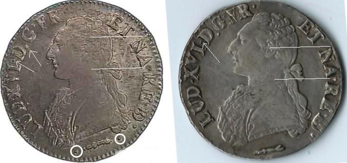 vrais ou faux écu Louis XVI  110