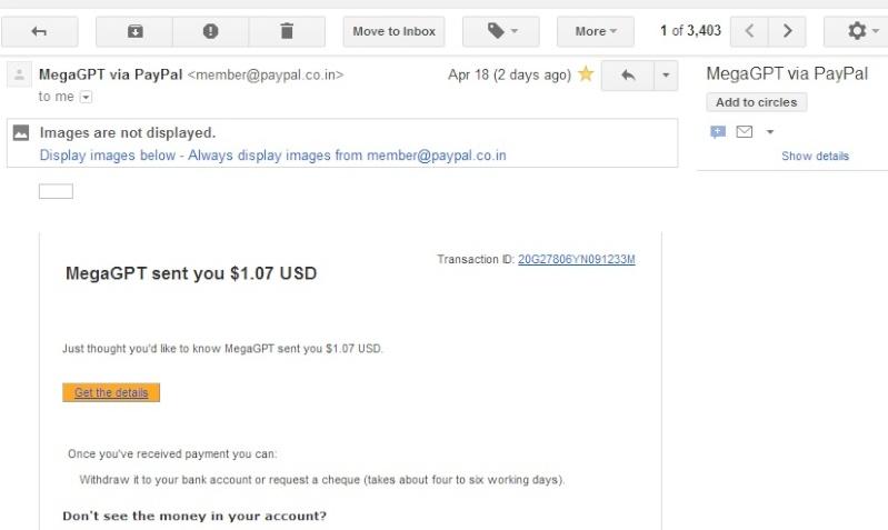 My 1st megagpt.com payment proof.. Megagp10