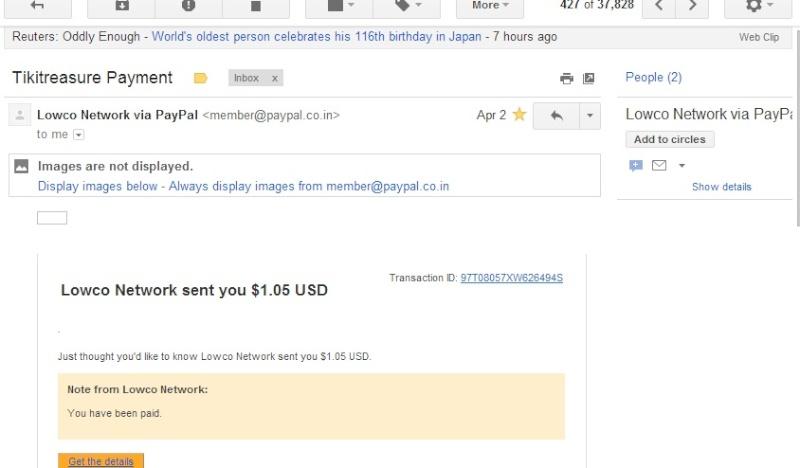 My 1st tikitreasure.net payment proof.. Tikitr10