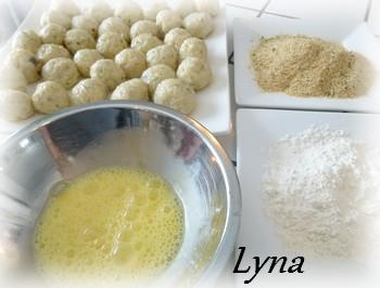Arancinis (boules de risotto farçies au fromage) Aranci12