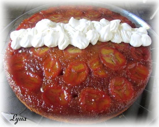 Gâteau renversé aux bananes foster Carame14