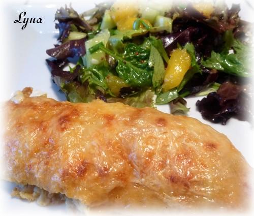 Crêpes au poulet et champignons Crepes16