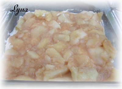 Dessert facile aux pommes et fromage à la crème Desser12