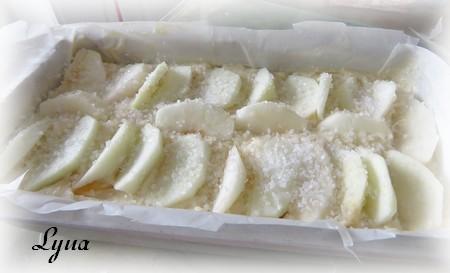 Gâteau aux pêches et aux pommes Gzetea10