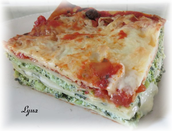 Lasagne aux épinards, édamames et fines herbes Lasagn15