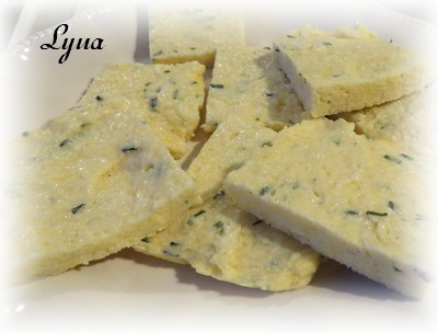 Polenta grillée au fromage bleu Polent10