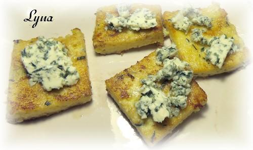 Polenta grillée au fromage bleu Polent11