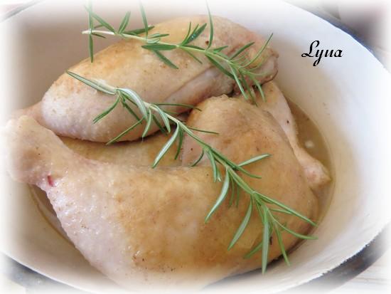 Cuisses de poulet braisées au four Poulet22