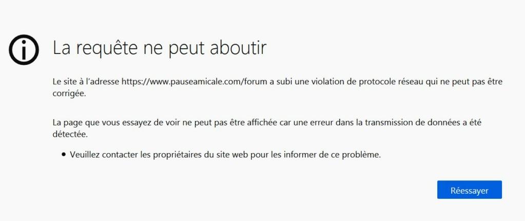 Violation de protocole réseau Requet10