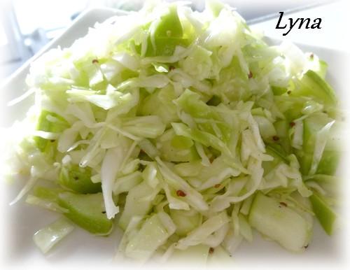 Salade de chou et pomme verte Salade13