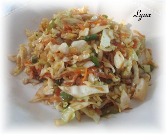 Salade de chou tiède à l'asiatique Salade16