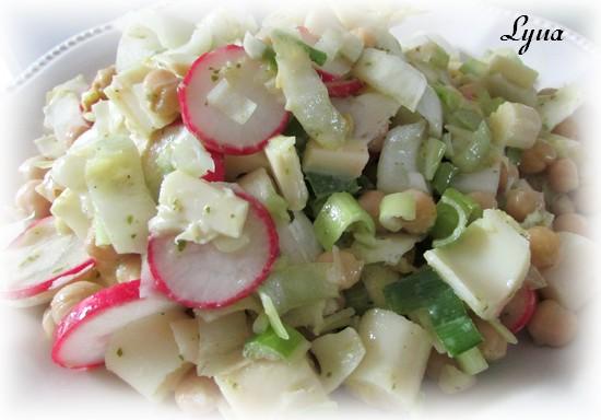 Salade de légumes et pois chiches Salade17