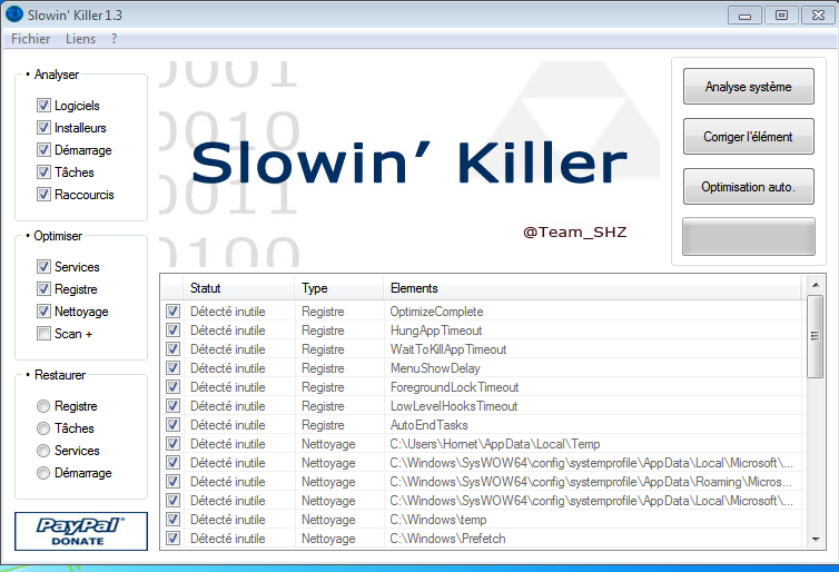 Slowin Killer : Optimisation de Windows Choix_10