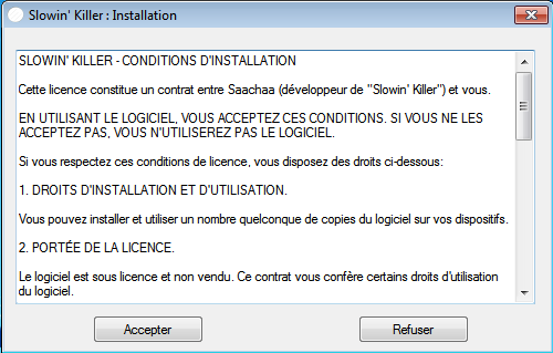 Slowin Killer : Optimisation de Windows Licenc10