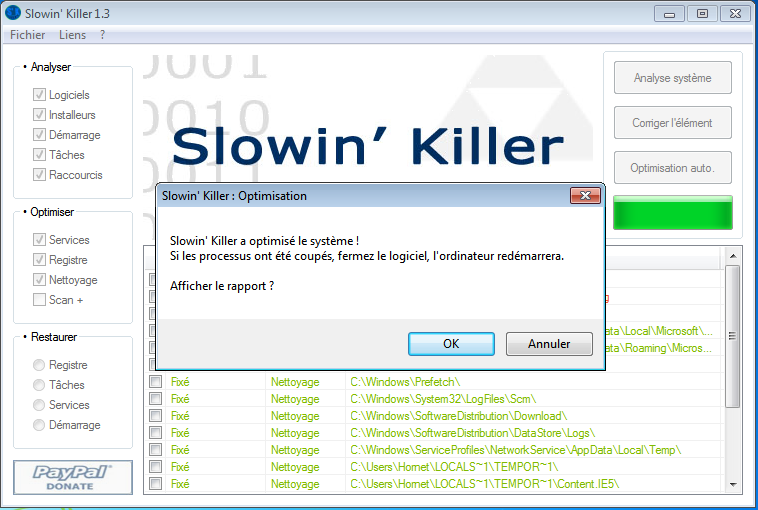 Slowin Killer : Optimisation de Windows Optimi10