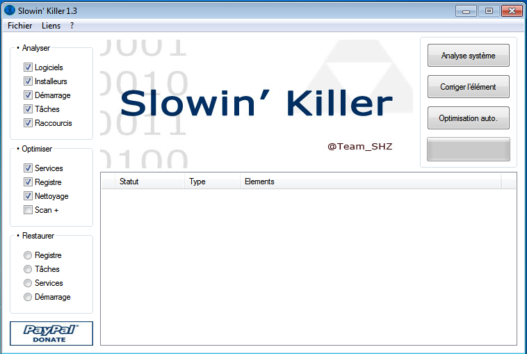 Slowin Killer : Optimisation de Windows Progra10