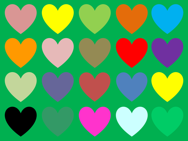 Backgrounds for adding text boxes and text Hearts10