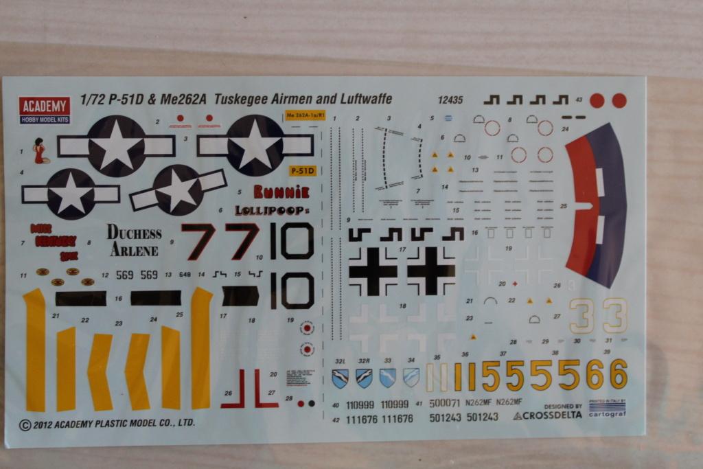 [ACADEMY] MESSERSCHMITT Me 262 + NORTH AMERICAN P-51 D combo 1/72ème Réf 12435 000_ac12