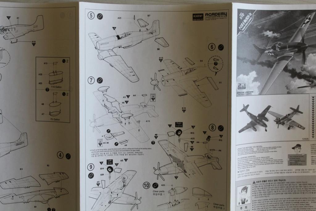 [ACADEMY] MESSERSCHMITT Me 262 + NORTH AMERICAN P-51 D combo 1/72ème Réf 12435 000_ac28