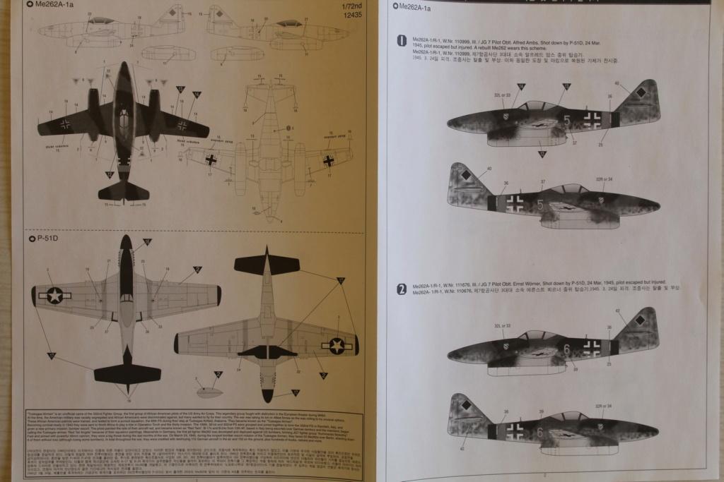 [ACADEMY] MESSERSCHMITT Me 262 + NORTH AMERICAN P-51 D combo 1/72ème Réf 12435 000_ac29