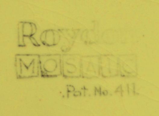 Roydon Mosiac Pat No 411 - another version of Mosiac  Mosaic11