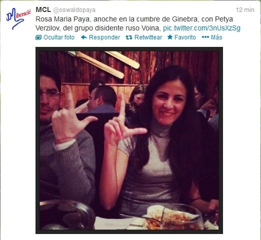 La figlia di Paya' arriva in Spagna ed incontrera' Carromero,che investi'(?) a morte suo padre Yoani10