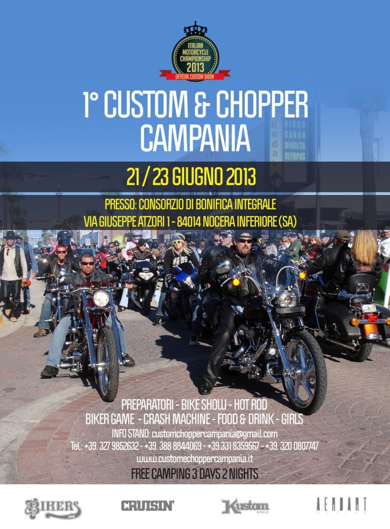 Custom & Chopper in Campania 21-23 giugno Kustom11