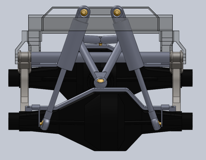 Unimog U5000 6x6  sur base axial Suspen12