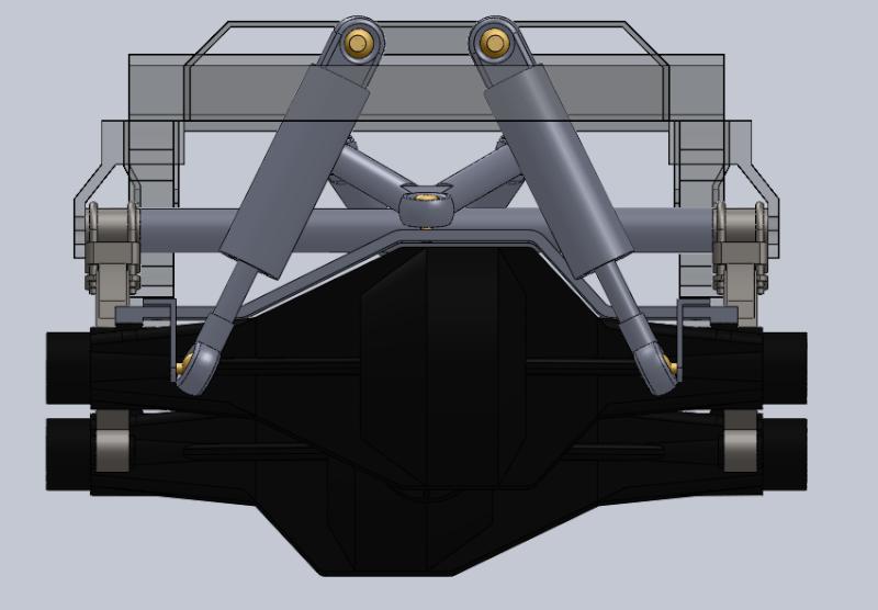 Unimog U5000 6x6  sur base axial Suspen13