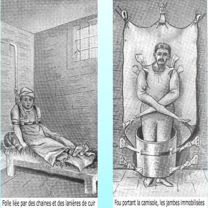 Contention psychiatrie : Liens utilisés chez les fous