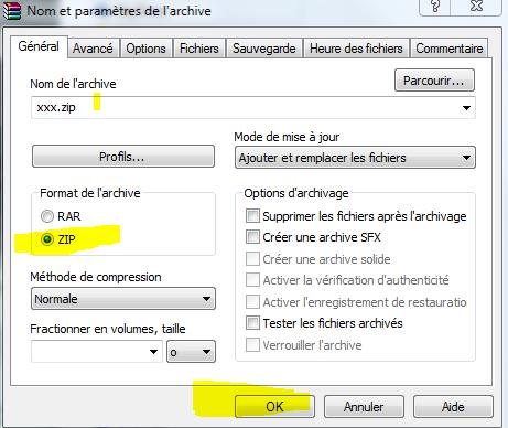 envoi fichier zip 110