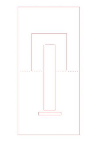 Gabarit invitation en forme de chaise + découpe par type de lignes Captur10