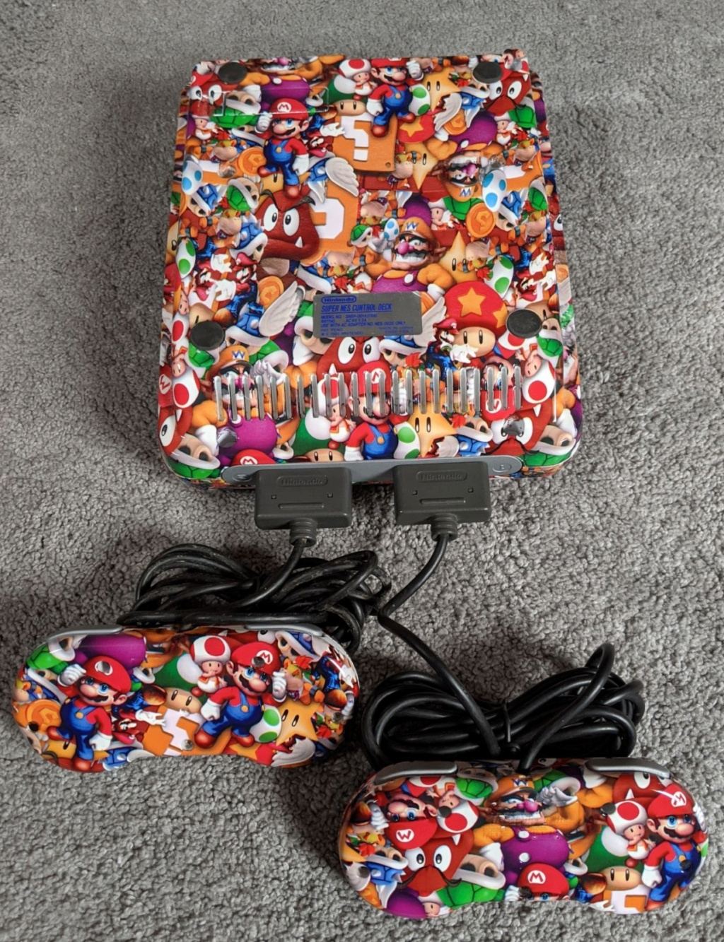 Ma console Super Nintendo entièrement faite en hydro-dipping  Img_2018