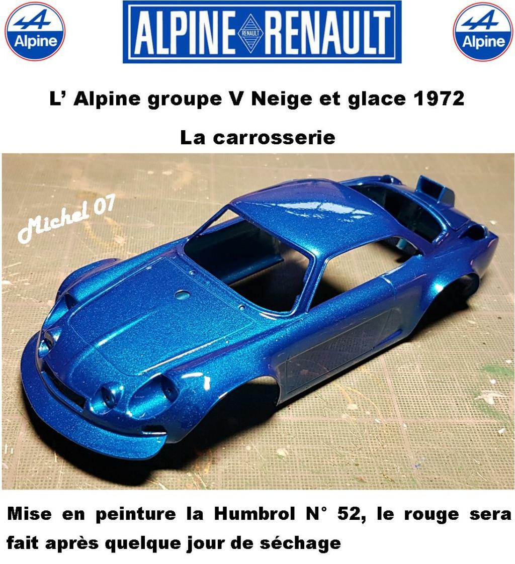 Fil rouge 2021 * Alpine A110 Groupe V Neige et glace 1972 1/24 Heller 80745 + scratch 131510