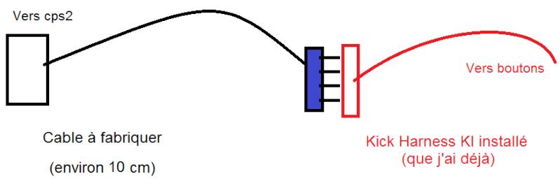 Fabrication d'un adaptateur / cable Kick harness CPS2 -> KI Sans_t13