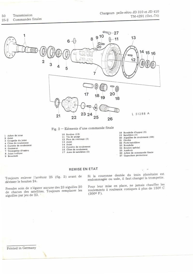 casse roulement de roue arrière JD 410 Comman11