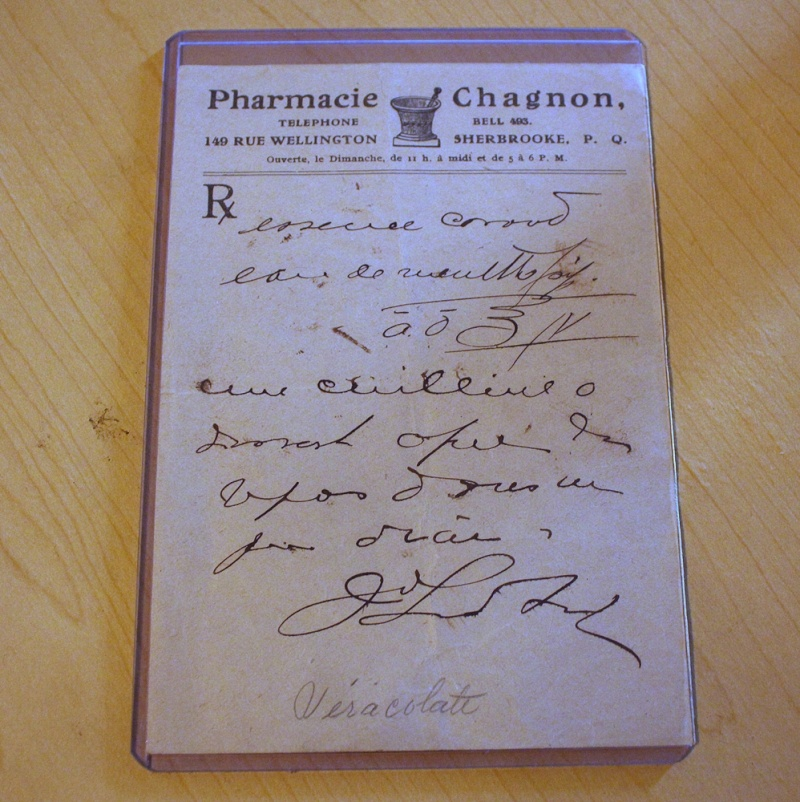 Prescription pharmacie Chagnon Prescr10