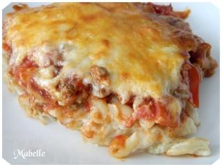 Macaroni à la viande, sauce au fromage Macaro12
