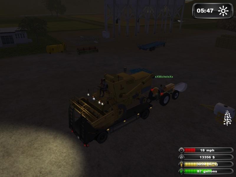 bellissima partita multiplayer con michael93 e michele 08/03/2013 farmng simulator  2011 :) Lsscre24