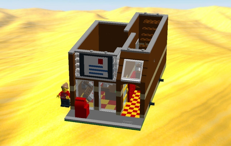 LDD MOC Modular Post Office Postof11