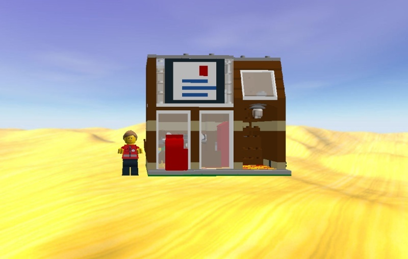 LDD MOC Modular Post Office Postof14
