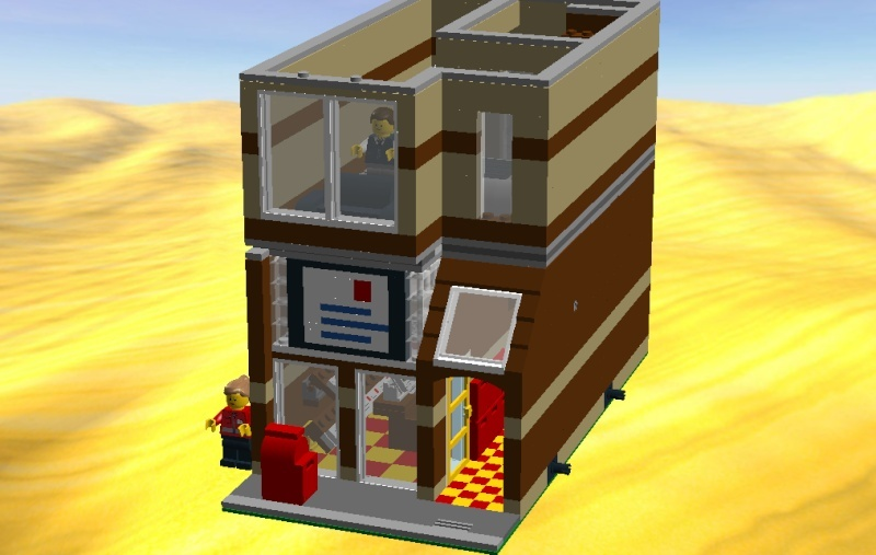 LDD MOC Modular Post Office Postof16