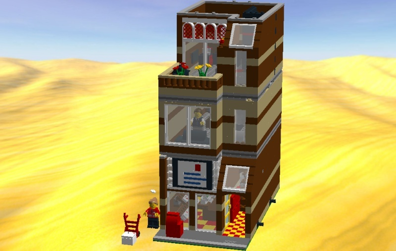 LDD MOC Modular Post Office Postof19