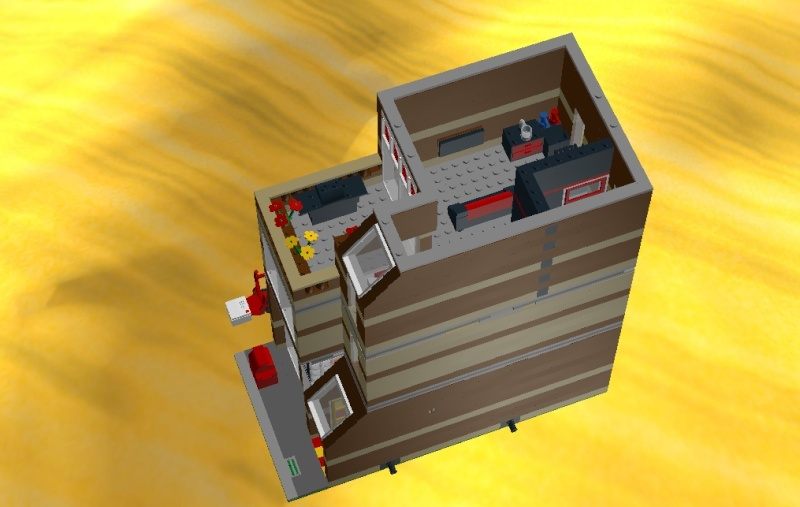 LDD MOC Modular Post Office Postof20