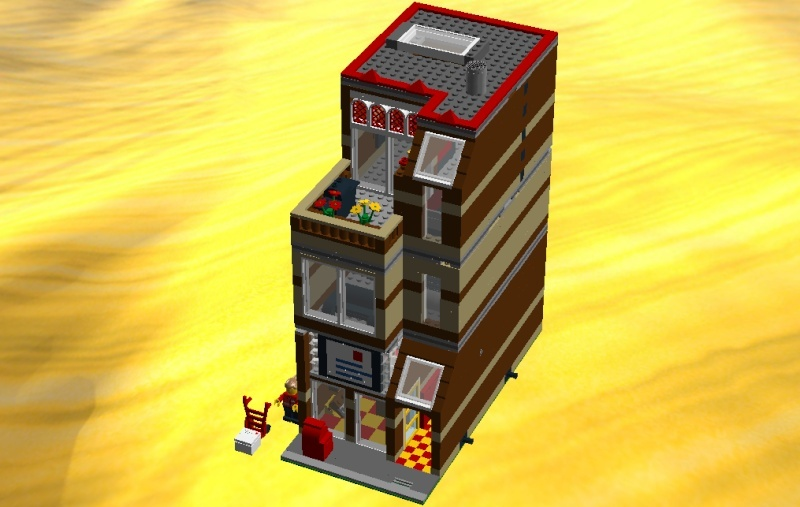 LDD MOC Modular Post Office Postof22